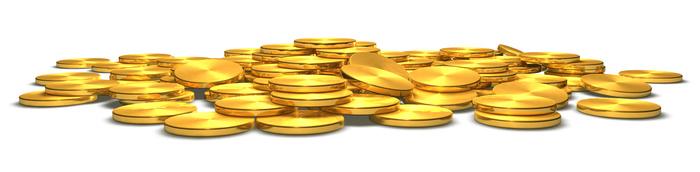 Symbolbild Münzen für historischen Goldpreis