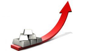 Illustration der Entwicklung des Silberpreises